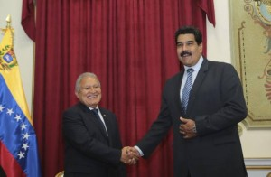 Handout picture showing Maduro and Ceren in Caracas