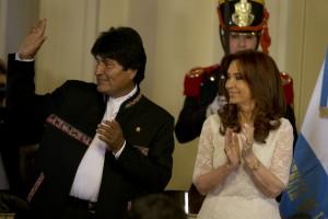 Cristina Fernandez, Evo Morales